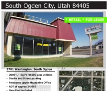 3701 Washington Blvd, South Ogden - For Lease - By Biz Real Estate